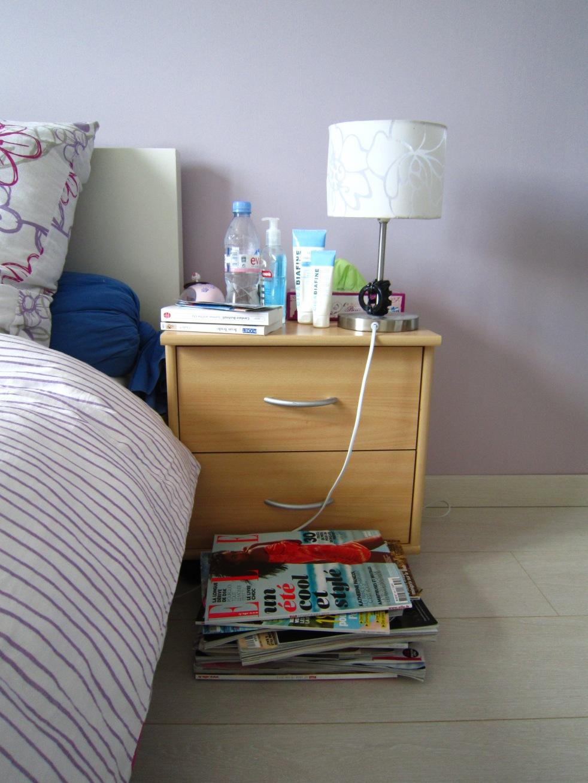 d fi du lundi sur ma table de nuit dans le placard de dame renard. Black Bedroom Furniture Sets. Home Design Ideas