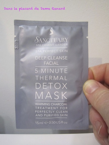 Detox Mask par Santuary SPA Covent Garden