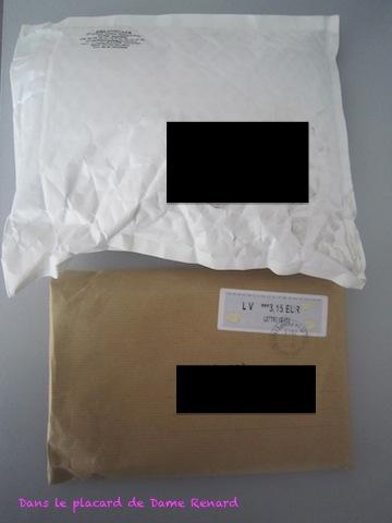 Dans ma boîte aux lettres, il y a...2 enveloppes
