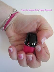 Vernis Sugar coasted et Stamping avec  Spread the word de Séphora...