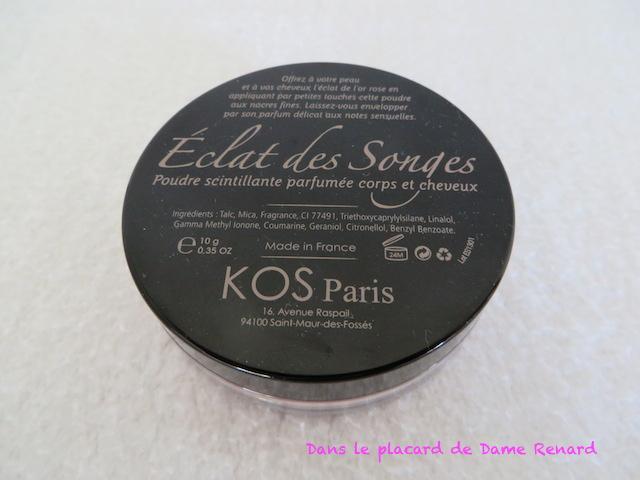 Poudre scintillante parfumée: Eclat des Songes KOS Paris