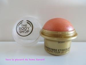 Gingembre étincelant: Baume pour les lèvres The Body Shop