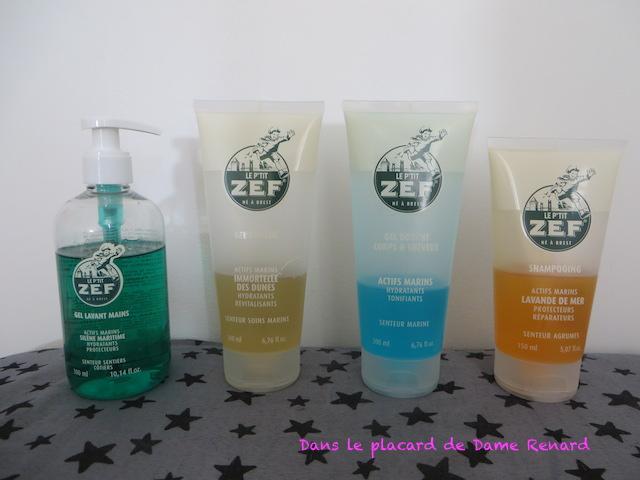 Le p'tit ZEF: shampoing, gel douche et gel lavant mains