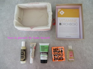 BirchBox Vitamine B (Mars 2014)
