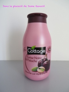 douche lait hydratante Cerise Noire & Pistache Cottage