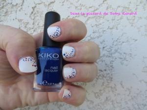 Nail Art: bleu, blanc, rouge