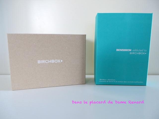 Birchbox: Ode à la paresse (août 2014) et addicted to Besimon