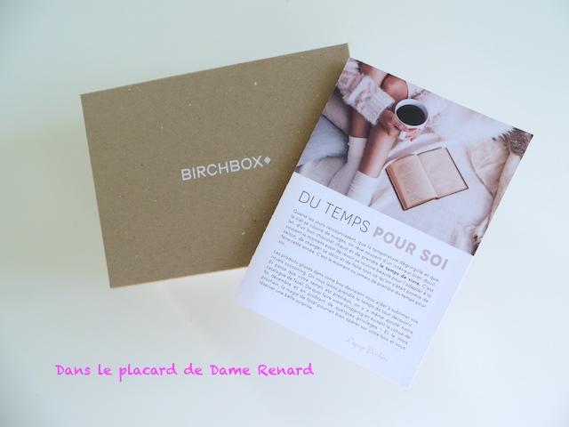 BirchBox: Du Temps pour soi (Novembre 2014)