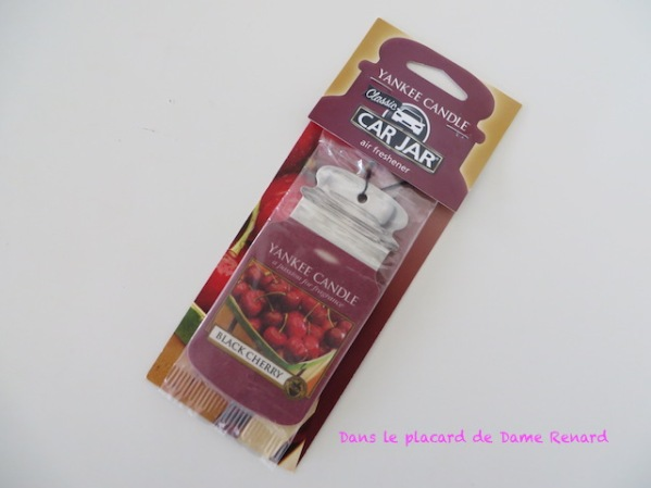 Déodorant petit espace: Car Jar Yankee Candle senteur Black Cherry
