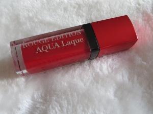 Rouge Edition Aqua Laque Bourjois teinte Red my lips #Friday Lipstick