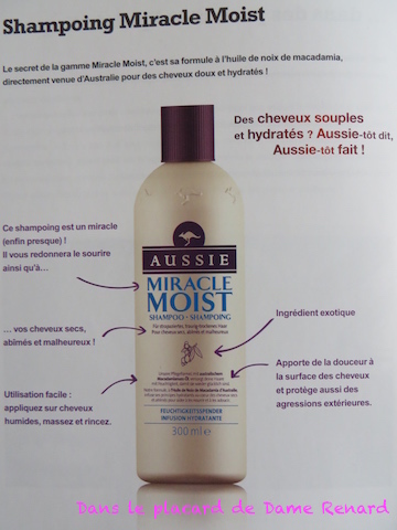 Le shampoing Miracle Moist
