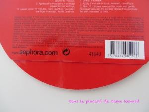 Masque tissus: grenade défatiguante énergisante Séphora