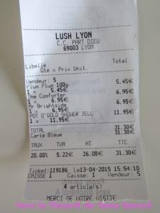 Haul Lush (avril 2015)