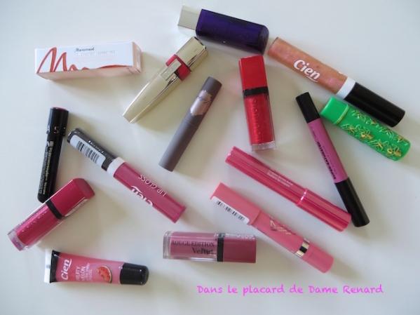Défi du lundi: Rouges à lèvres