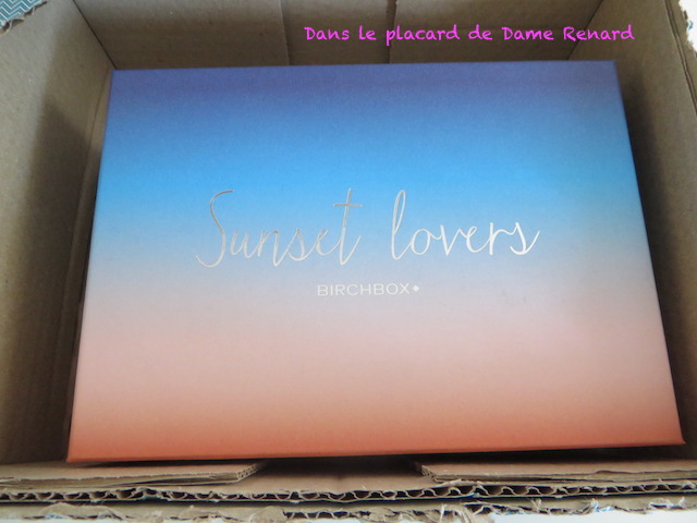 Birchbox de juillet 2015: Sunset Lovers