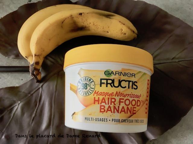 masque banane cheveux secs