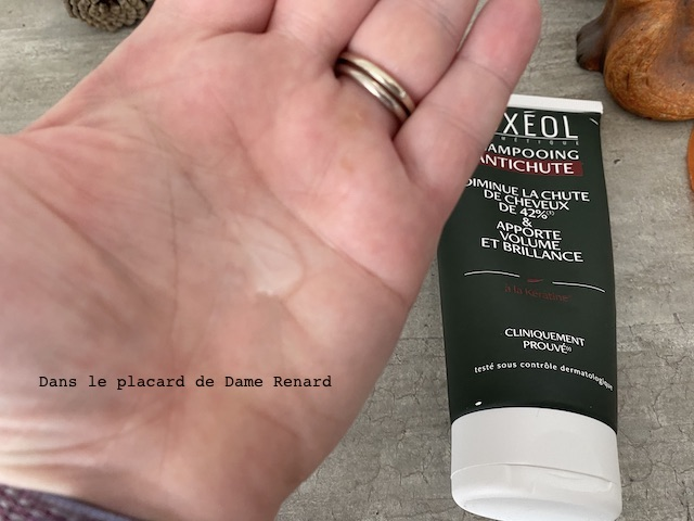 texture shampooing antichute Luxéol