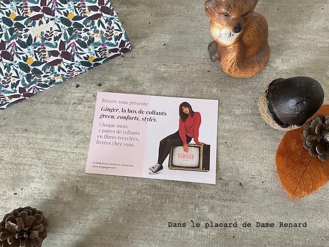 flyer Ginger box Blissim pépites d'automne novembre 2020