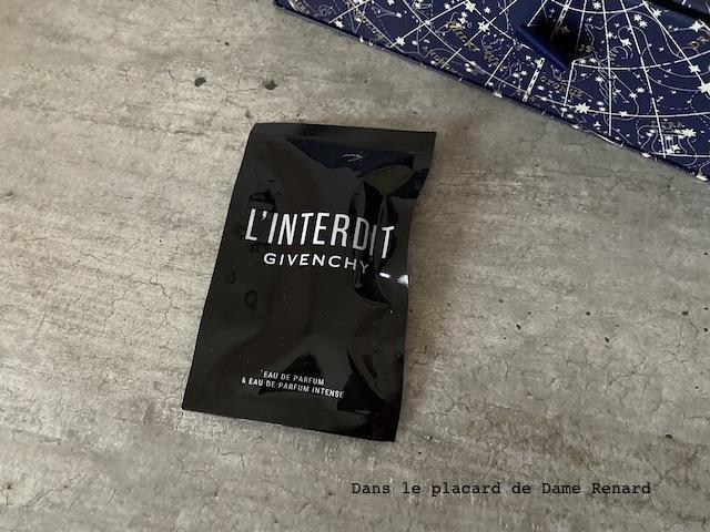 Echantillons Eau de parfum et eau de parfum intense L'interdit Givenchy