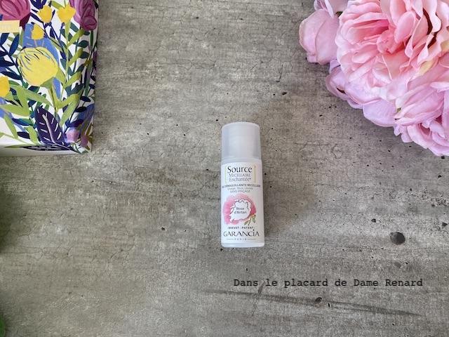 Eau démaquillante source micellaire enchantée à la rose Garancia Blissim: printemps magique 100% Garancia avril 2021