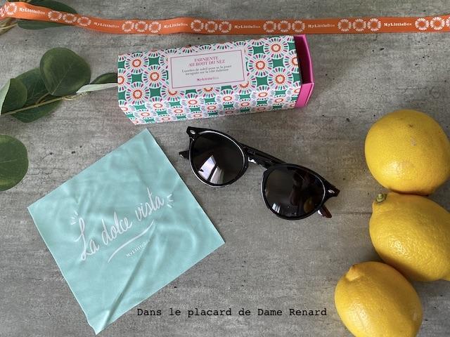 Lunettes de soleil My little Amalfi Box, avril 2021
