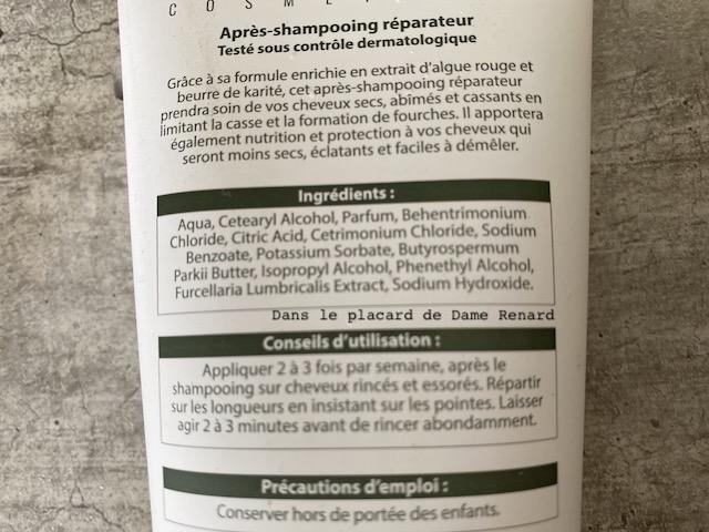 Composition Après-shampooing Réparateur Luxéol