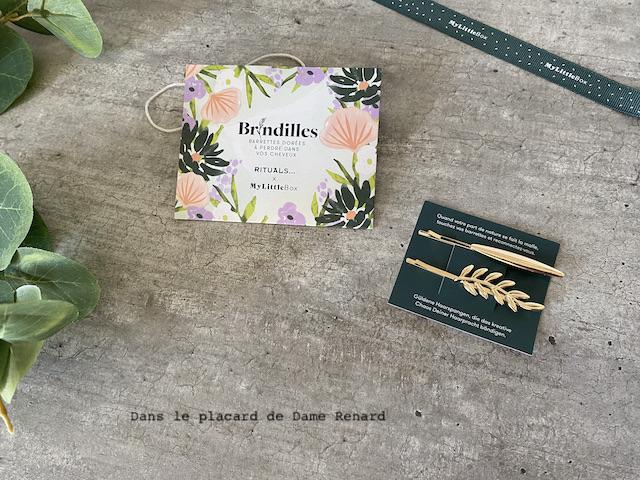 Brindilles barettes dorés My little box x Rituals... My little box x Rituals... mai 2021 My little box x Rituals... mai 2021
