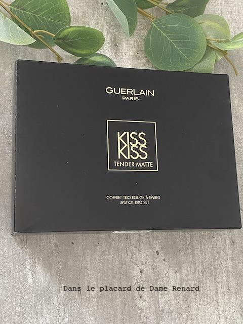 coffret trio rouge(s) à lèvres Kiss Kiss Tender Matte Guerlain