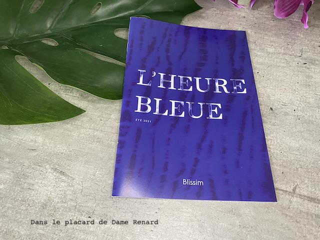 L'heure bleue Blissim juillet/août 2021