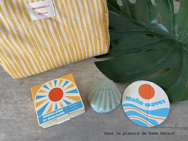 Coquillage et crustacés éponge konjac naturelle My little box x albertine
