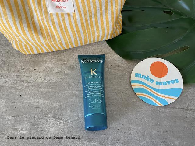 bain thérapiste shampooing-baume recréateur de fibre neuve Kérastase My little box x Albertine, la double box juillet/août 2021