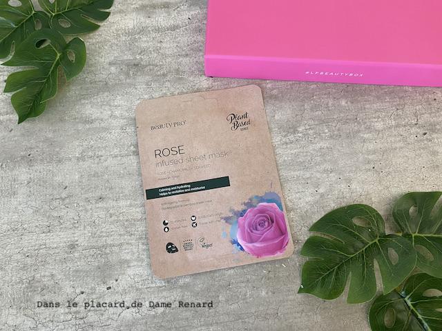 Infused sheet mask Rose BeautyPro